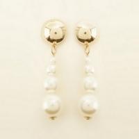 Pendentifs écru à fausses perles effet dégradé