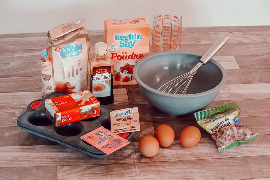 Recette • Cupcakes vanille et pépites de chocolat