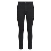 Jean skinny noir à poches cargo