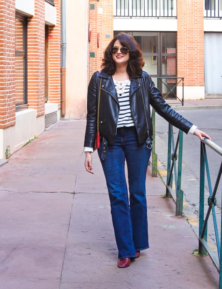 Look n°170 • Jeans flare et marinière