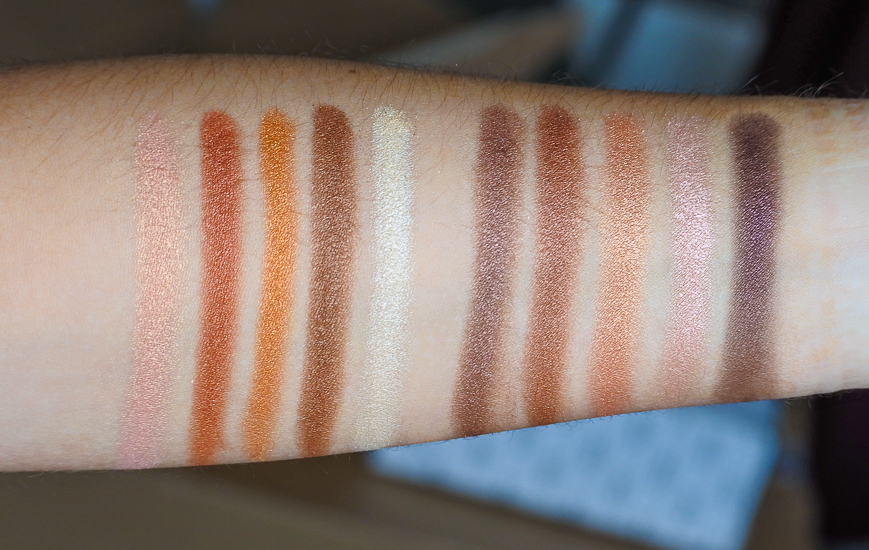 swatchs palettes Wild Earth Dior