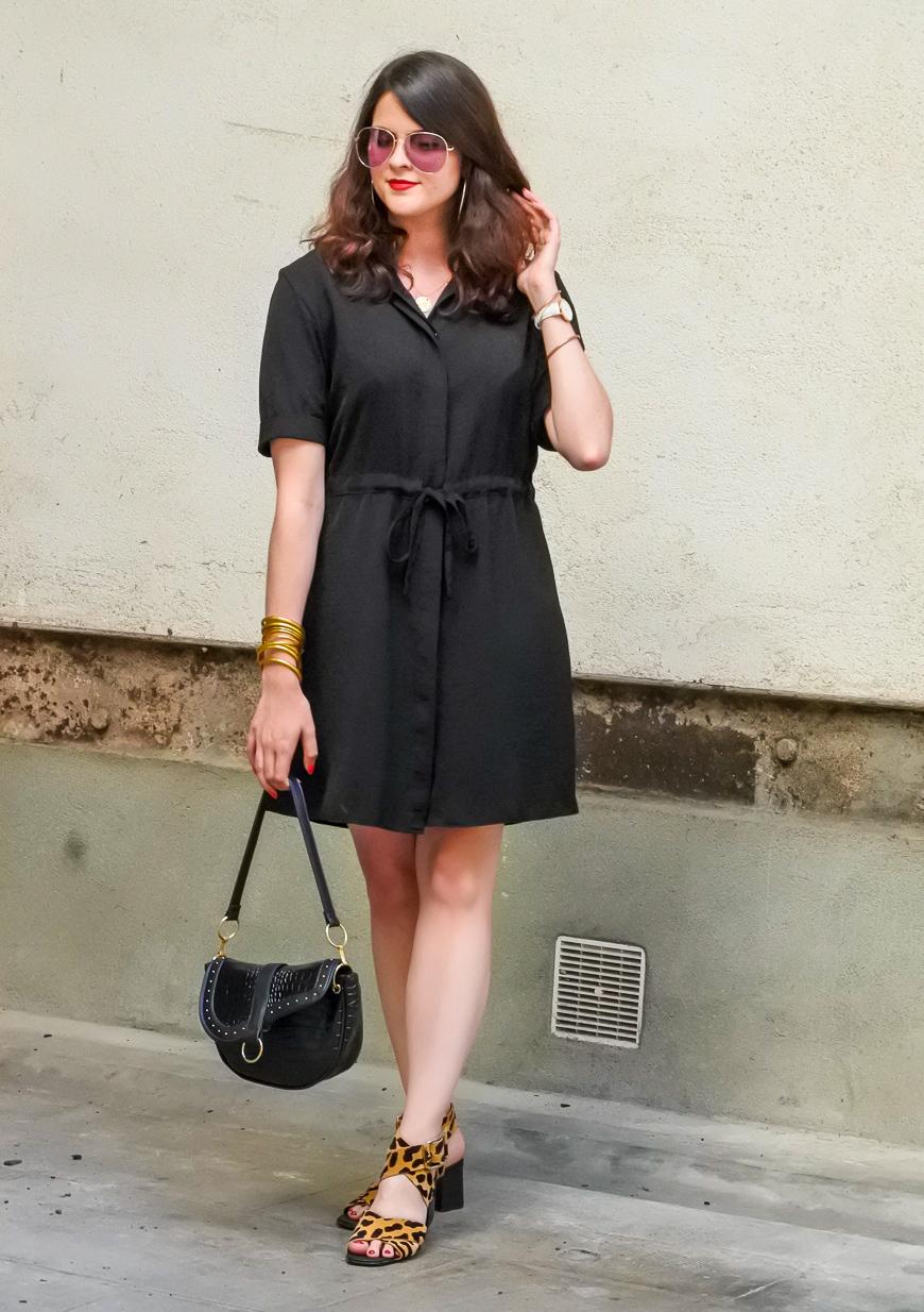 tenue en robe noire