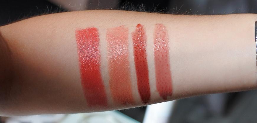 swatchs maquillage