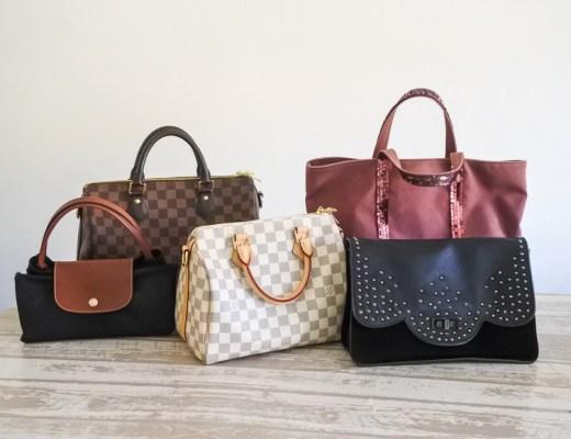 ma collection de sacs de marques