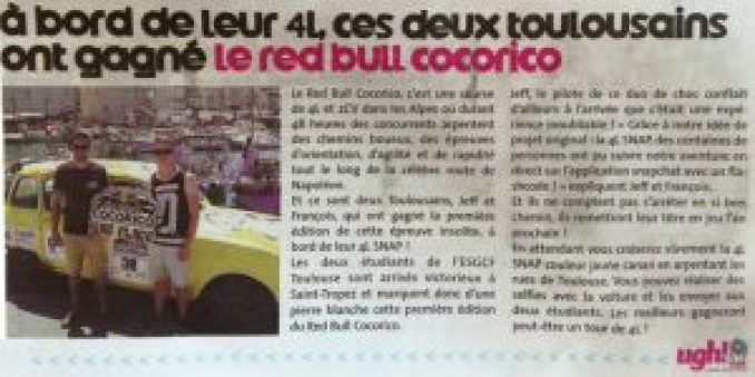 médiatisation red bull cocorico
