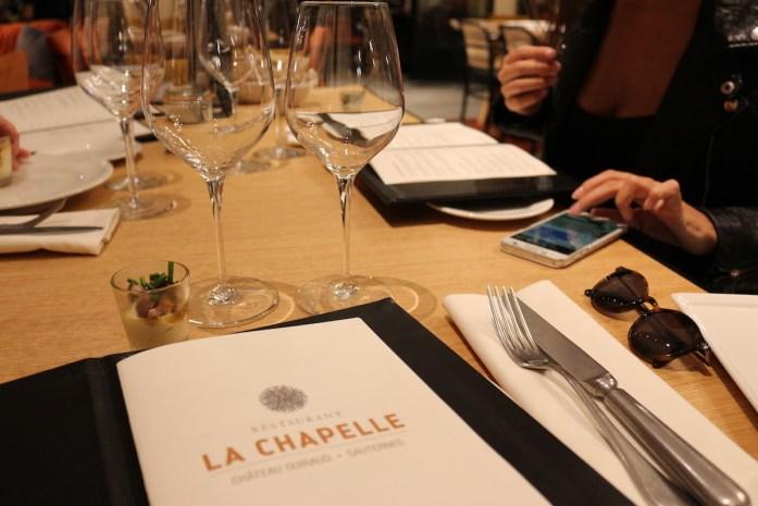 Menu La Chapelle - Guiraud