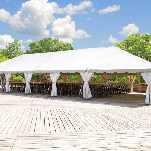 Outdoor tent for wedding or other festivity