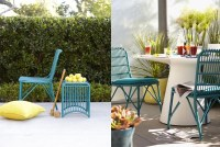 Turquoise patio furniture, and its on sale | tended