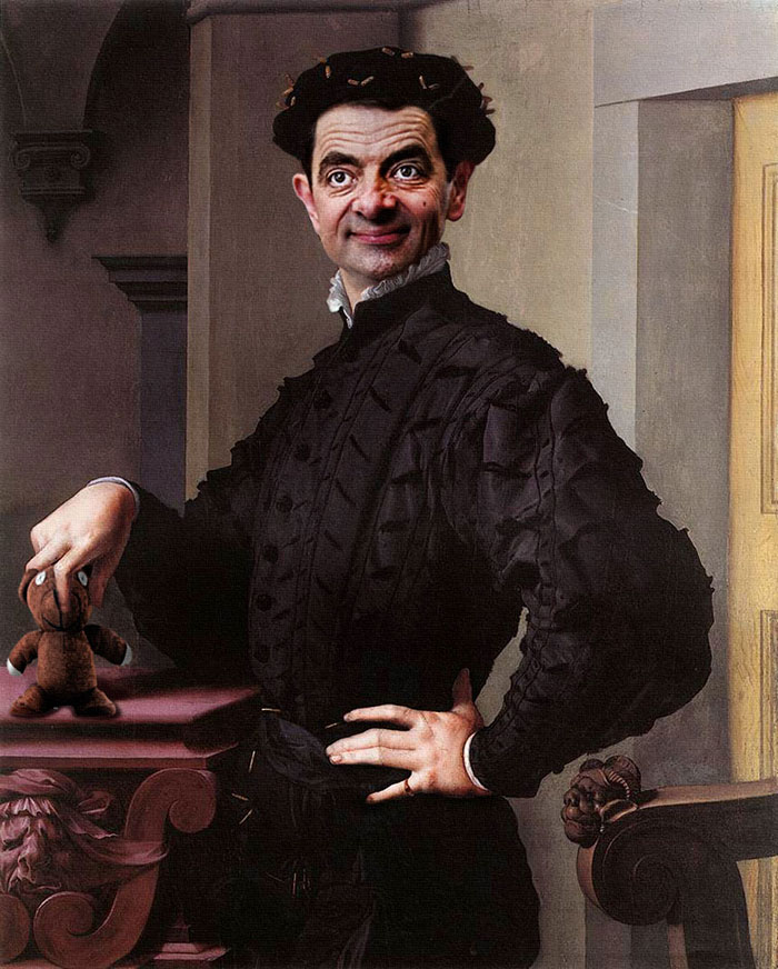 Mr. Bean Inserido Em Retratos Históricos Por Caricaturista