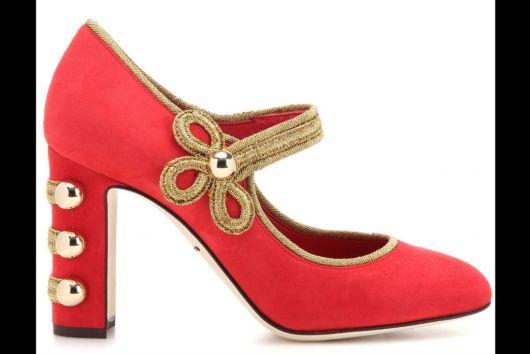 Rojos con detalles dorados e inspiración circense de Dolce&Gabbana.