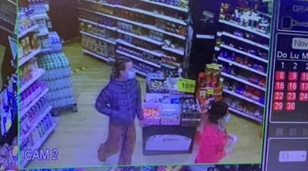 Pictured: Esther Dingley is seen at Eroski supermarket in Benasque, Spain on November 19, days before her disappearance. The video shows Ms Dingley appearing 'sad and thoughtful' as she wandered around the supermarket