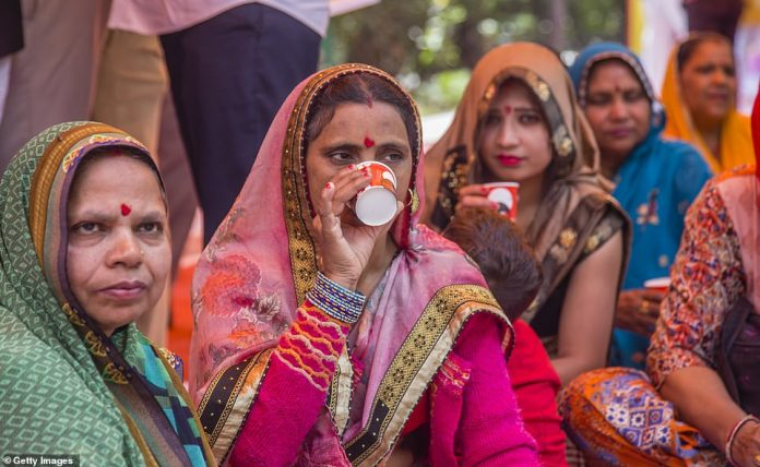 Hundreds of Hindu worshippers in India hosted a cow urine drinking party on March 14, 2020, in the belief that it will ward off cornavirus