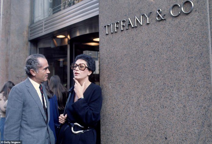 Her Tiffany designs, from about 2009, came to account for about 10 percent of all the company's sales Tiffany gave her an immediate $47.3 million payment in 2012 to license her designs for another 20 years. She is pictured circa 1970