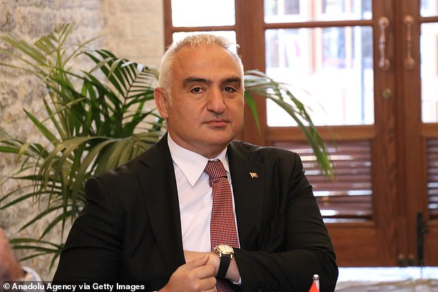 Tourism minister Mehmet Nuri Ersoy said the 'successful vaccination programmes ongoing in both the UK and Turkey will ensure this season is even safer than last year'.