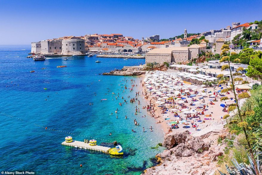 But tourist hotspots Croatia (pictured) and Bulgaria have been given the green-light, along with Hong Kong and Taiwan. Bulgaria and Hong Kong have been full downgraded to the green list but Croatia and Taiwan are on what's known as the 'green watch list' which means they can be reverted back to amber at any moment