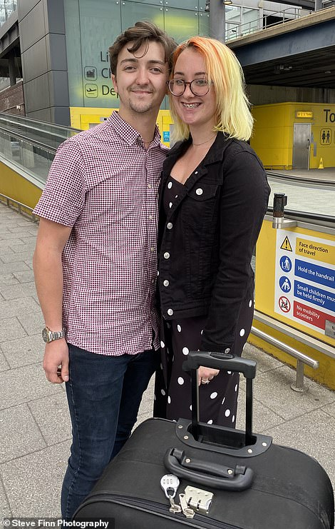 Samuel Helps, 19, and girlfriend Hannah Simons, 19, from Bromley are going to Menorca for a week. They decided to take a chance and booked a last minute package deal. 'We're hoping there won't be any changes,' warehouse manager Samuel said