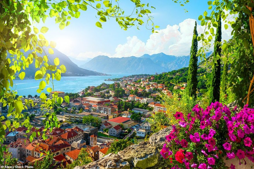 There may be no current direct flights from the UK to Montenegro but that is due to change in the next few weeks. Pictured is Kotor Old Town