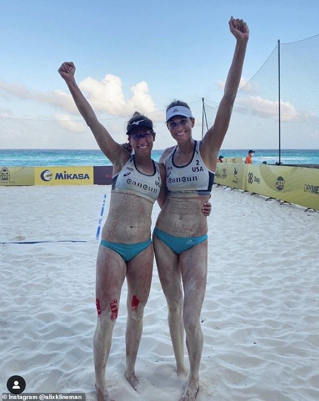 Alix Klineman, 31, won back-to-back gold medals at the FIVB World Tour events in 2018 and 2019 with her current partner April Ross, 39. The pair are currently fifth in the world