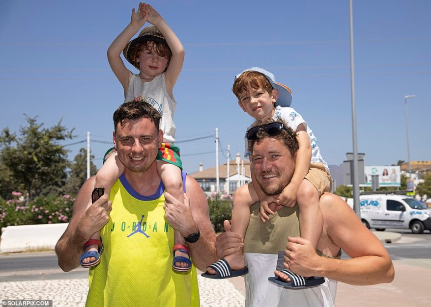 Andy Fordham, heading to the beach with son Logan, three, to meet up with his wife after a trip to the twice-weekly market at La Cala de Mijas with friend James Simpson and his son Finley, also three, said: 'It's all very confusing and it makes any sort of planning very difficult