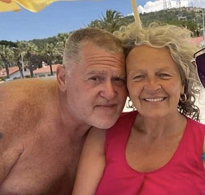 Lisa Marcelle, 56, and Ricky Cassidy, 58, from Wiltshire, had flown out to Turkey hassle-free on May 1st, so Ricky could get an emergency dental operation and were due to travel back a week later - on May 8th. Pictured, in Turkey