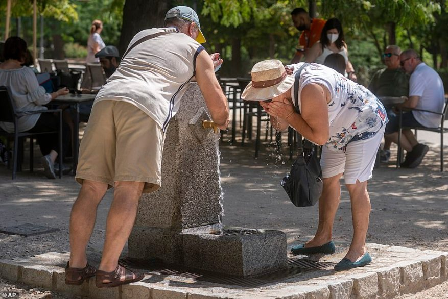 In Spain, the national weather service warned temperatures could hit 111F (44C) in some areas in coming days. Parts of the northeastern Catalonia region were forecast to reach 107.6F (42C) on Thursday