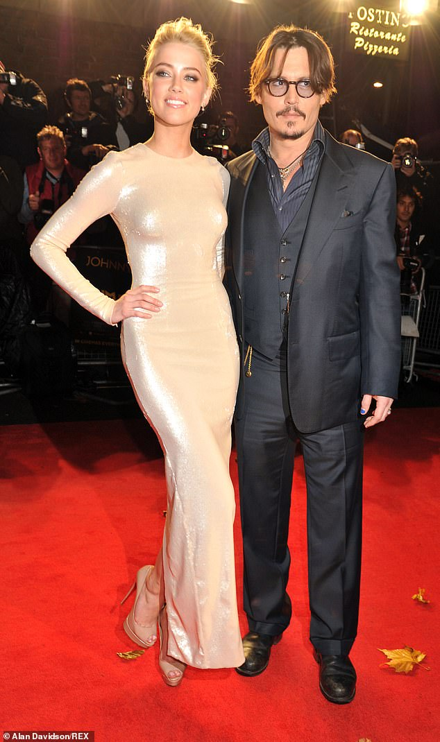 Depp and Heard are pictured at the premiere of The Rum Diary - the film on whose set they met in 2009. The pair married in February 2015, and divorced a year later