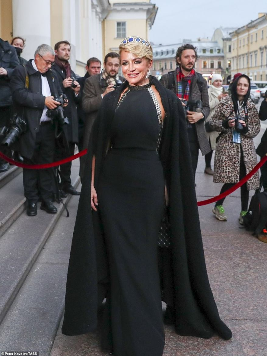 Viktoria Shelyagova is seen prior to a reception at the Russian Museum of Ethnography on October 1.