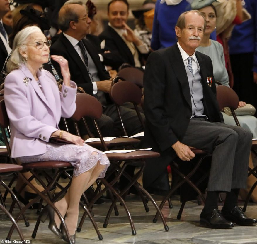 Foreign royals in attendance at the event in Russia today included former Queen Margarita and Duke Duarte of Braganza