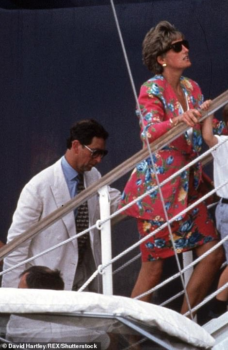 The real thing: The scenes were recreating the royal pair's unofficial 'second honeymoon' in Italy in 1991