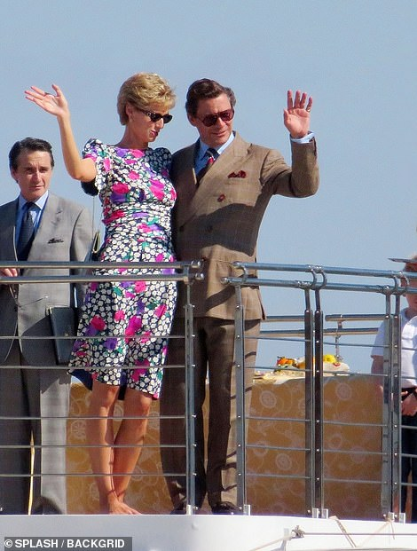 On tour: They arrived on a yacht in the sunshine