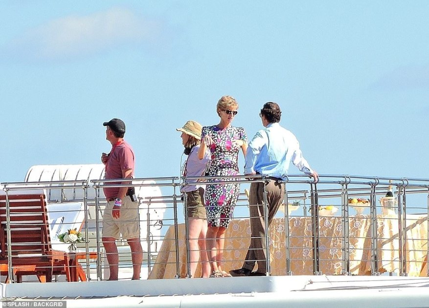 At work: The pair were busy filming the new scenes in sunny Mallorca