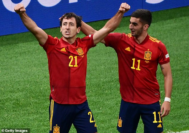 Mikel Oyarzabal (left) and Ferran Torres (right) led Spain's attack against Italy and France