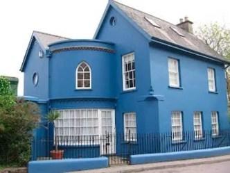 casas azul colores exteriores fachadas casa fachada pintada exterior pintadas cores pintura pintar azules google blanco imagens pesquisa modelos coloridas