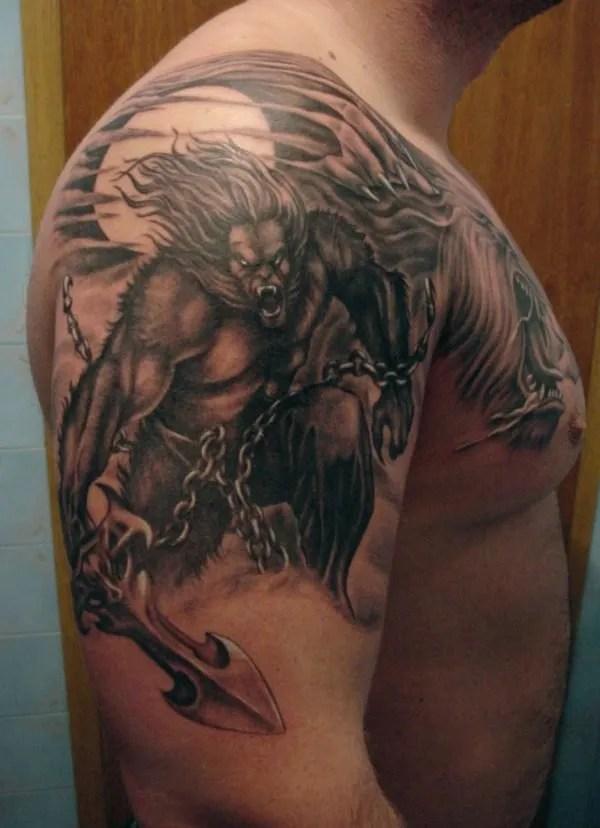 Tatuajes De Halloween Hombres Lobo Tendenziascom