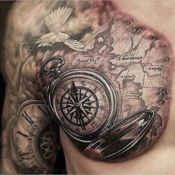 De 50 Tatuajes De Brújulas Que Te Van A Encantar