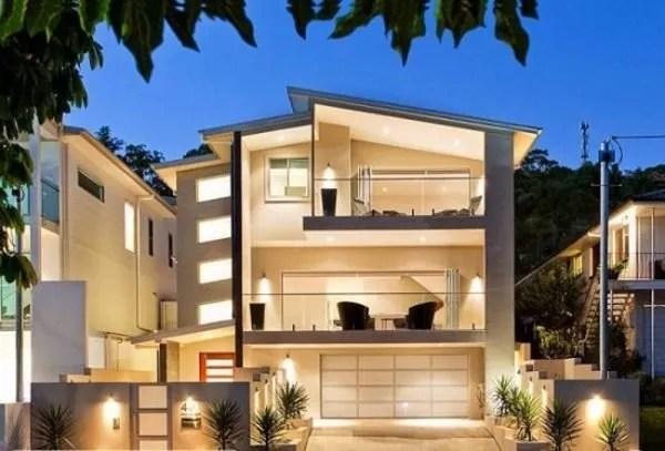 Fachadas De Casas De Dos Pisos Con Balcon Y Terraza
