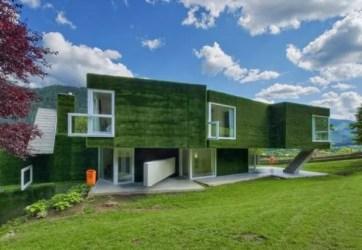 verde fachada casas fachadas casa colores exteriores gazon austria modern maison vista couverte facade moderna homes erba sintetica une arquitectura