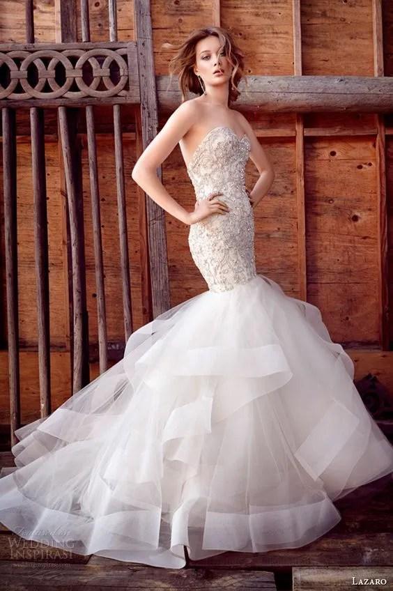 Vestidos de novia corte sirena Primavera Verano 2019
