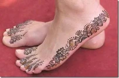 Tatuajes De Henna En Los Pies Tendenziascom