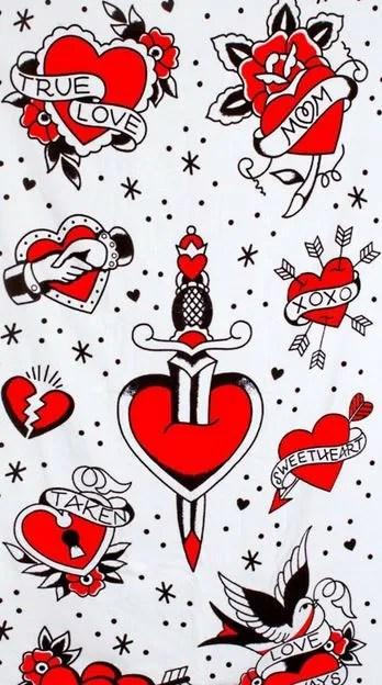 Tatuajes De Corazones Con Nombres A Color