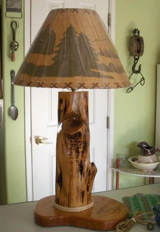 Lmparas rsticas de madera  Tendenziascom