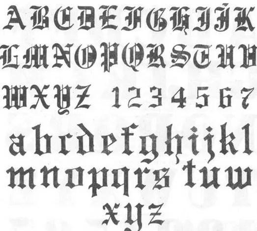 El Abecedario De Letras Góticas Tendenziascom