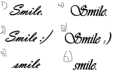 Smile Tattoo O Tatuajes De Sonrisas Tendenziascom