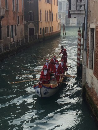 Santa club in a Gondola..