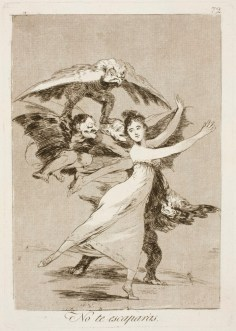 Goya. Capricho 72. No te escaparas. 1799