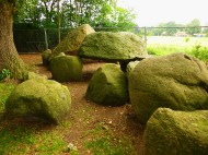 Hunebed, an ancient burial site one finds in Drenthe