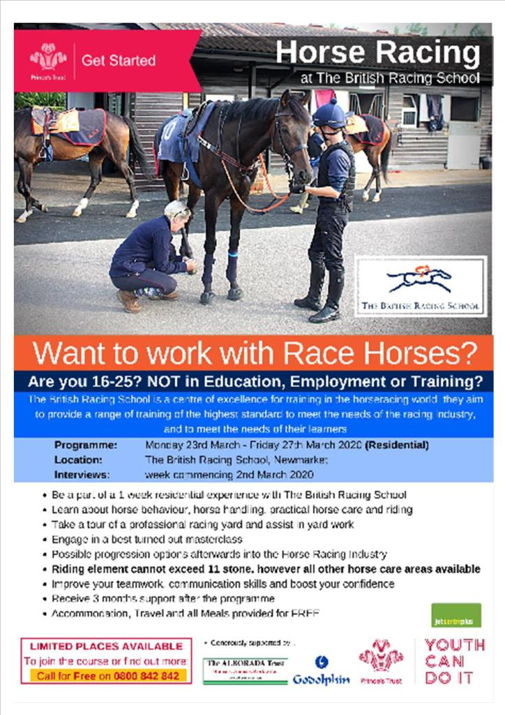 Prince's Trust - Residential Get Started with Horse Racing programme - Newmarket