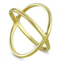 Gold plated cross silver ring - Tenebris