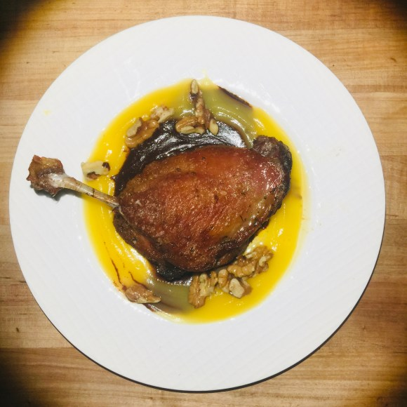 Picture of Duck al Chocolate and l'orange.