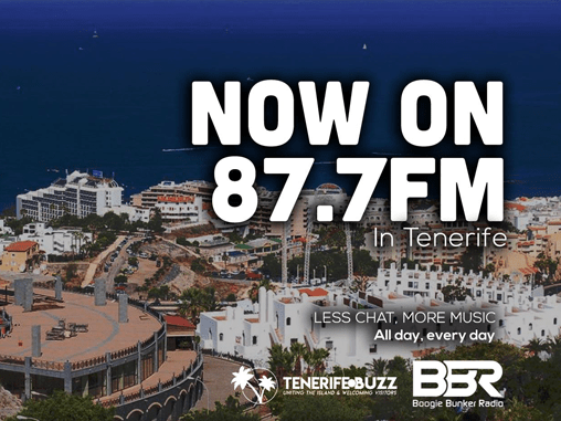 Now on 87.7FM in Tenerife Boogie Bunker Radio